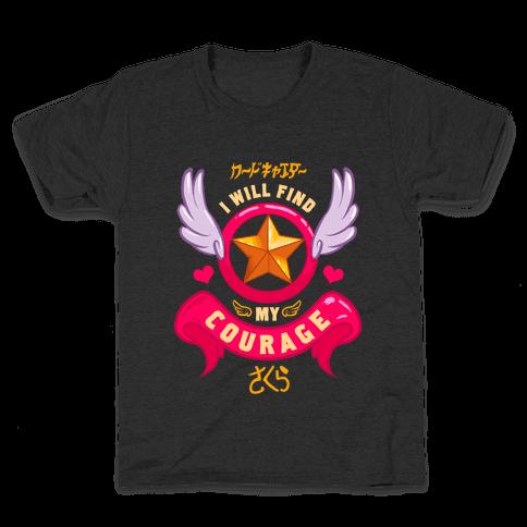 Cardcaptor Sakura: I Will Find My Courage Kids T-Shirt