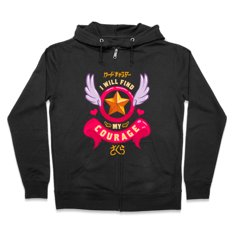 Cardcaptor Sakura: I Will Find My Courage Zip Hoodie