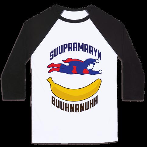Super Banana Baseball Tee