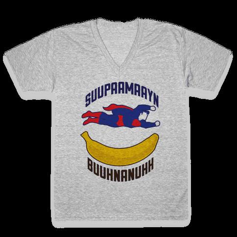 Super Banana V-Neck Tee Shirt