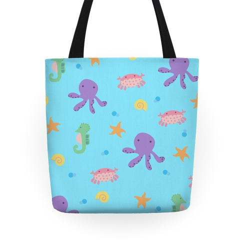 Sea Creature Pattern Tote