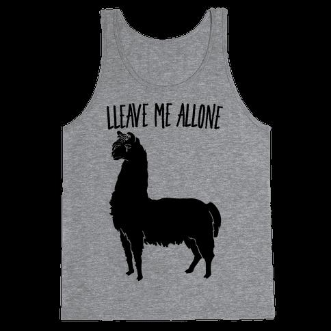 Leave Me Alone Llama Tank Top