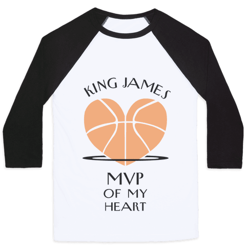 MVP of My Heart (Basketball Version) Baseball Tee