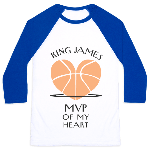 MVP of My Heart (Basketball Version) Baseball Tee