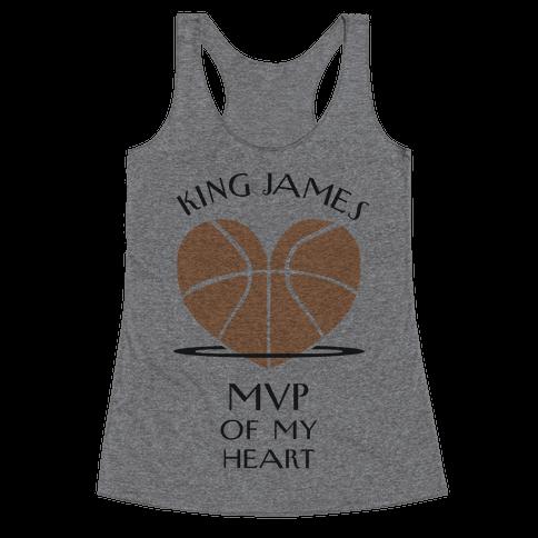 MVP of My Heart (Basketball Version) Racerback Tank Top