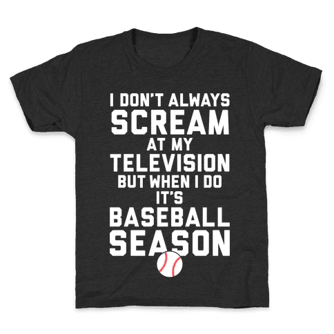 Baseball Season Kids T-Shirt