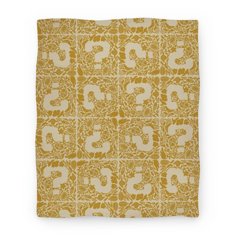 Floral Question Block Blanket