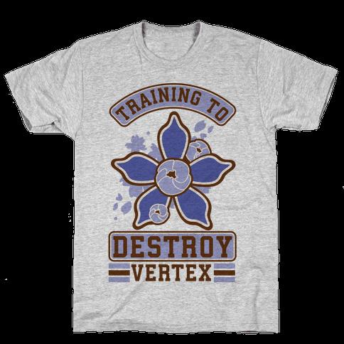 Training to Destroy Vertex Togo Mens T-Shirt