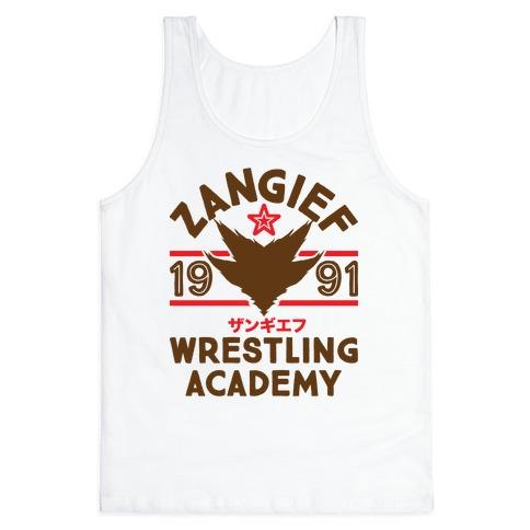 LookHUMAN Zangief Wrestling Academy Mens//Unisex Tank Heathered Gray