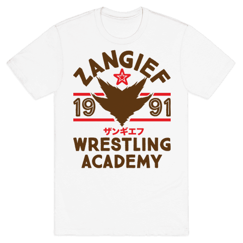 Zangief Wrestling Academy Mens T-Shirt