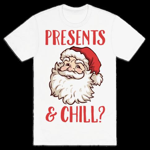 Presents and Chill Santa Mens T-Shirt