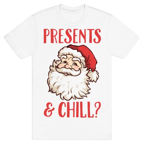Presents and Chill Santa Mens T-Shirt