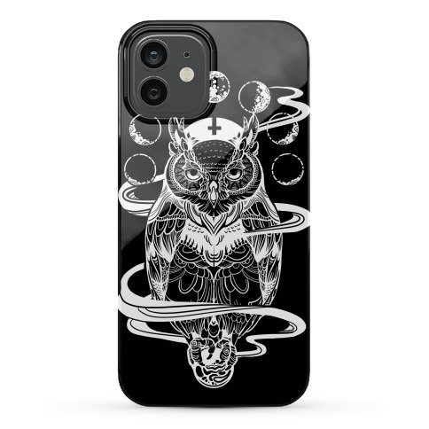 Witch's Owl Under the Phases of the Moon Phone Case