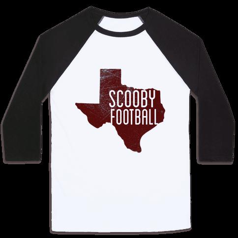 Scooby Football Baseball Tee