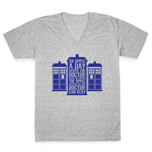 The Doctors Poem V-Neck Tee Shirt