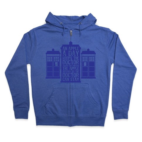 The Doctors Poem Zip Hoodie