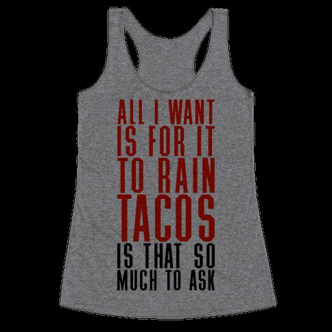 Rain Tacos Racerback Tank Top