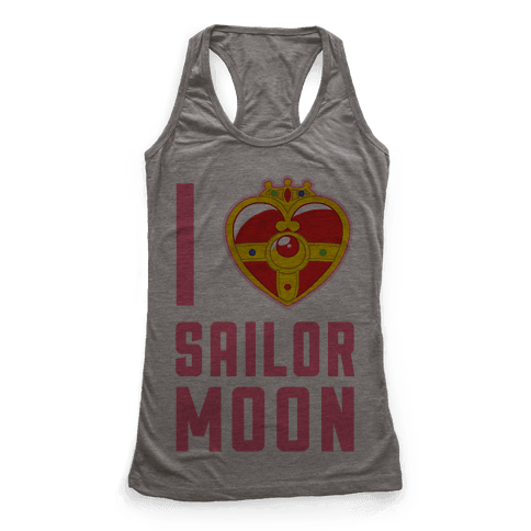 I Heart Sailor Moon Racerback Tank Top