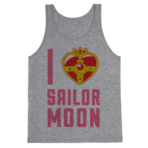 I Heart Sailor Moon Tank Top