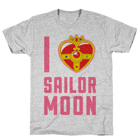 I Heart Sailor Moon Mens/Unisex T-Shirt