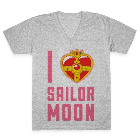 I Heart Sailor Moon V-Neck Tee Shirt
