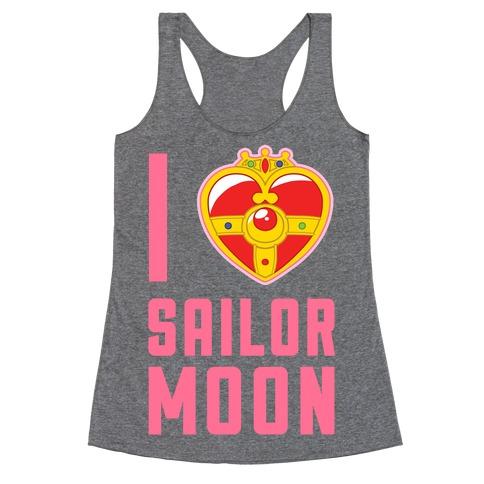 I Heart Sailor Moon Racerback Tank Top