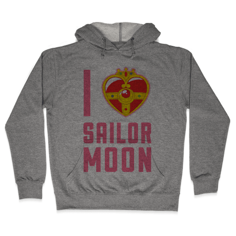 I Heart Sailor Moon Hooded Sweatshirt