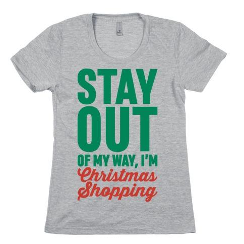 Christmas Shopping Womens T-Shirt