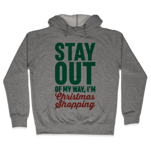 Christmas Shopping Hooded Sweatshirt