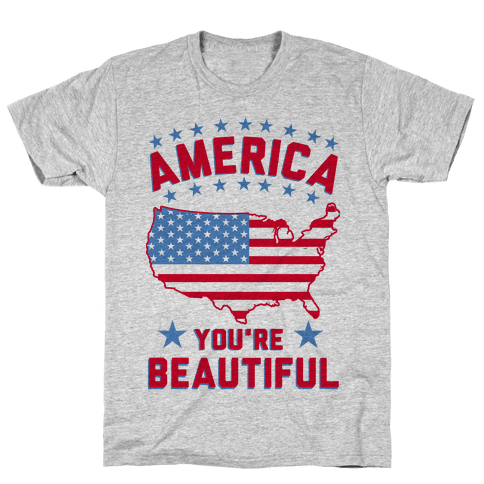 America You're Beautiful Mens T-Shirt
