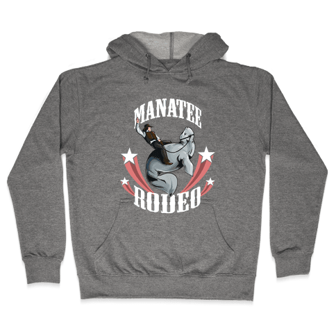 MANATEE RODEO (sweatshirt) Hooded Sweatshirt