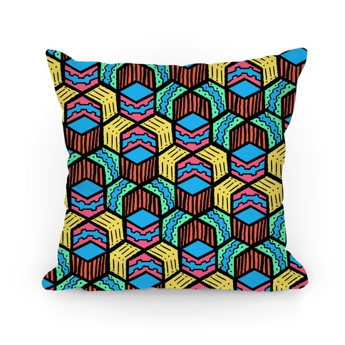 Tribal Doodle Pattern Pillow