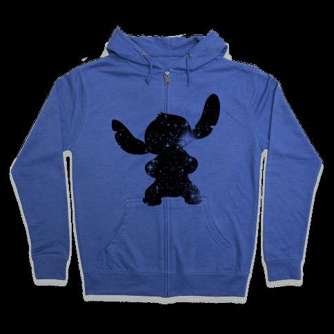 Cosmic Stitch Zip Hoodie