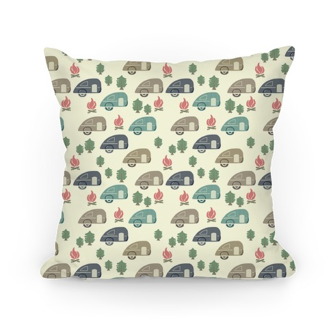 Camping Pattern Pillow