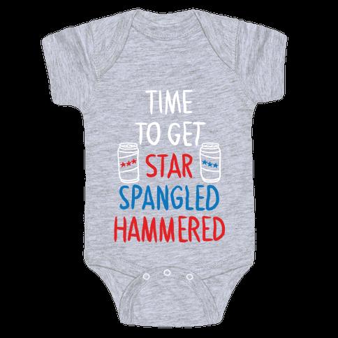 Star Spangled Hammered Baby Onesy