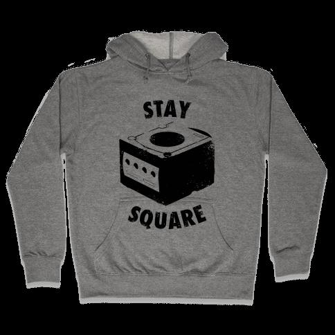 Stay Square (Vintage) Hooded Sweatshirt