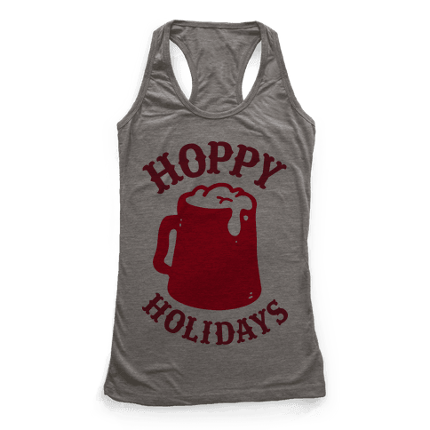 Hoppy Holidays Racerback Tank Top