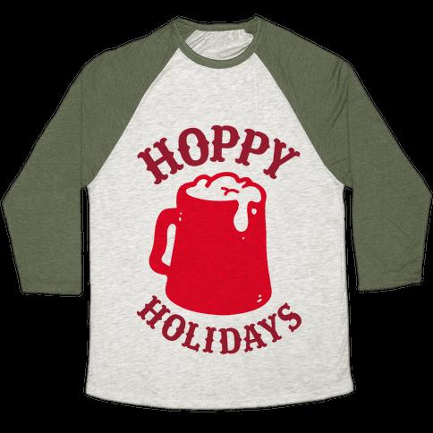 Hoppy Holidays Baseball Tee