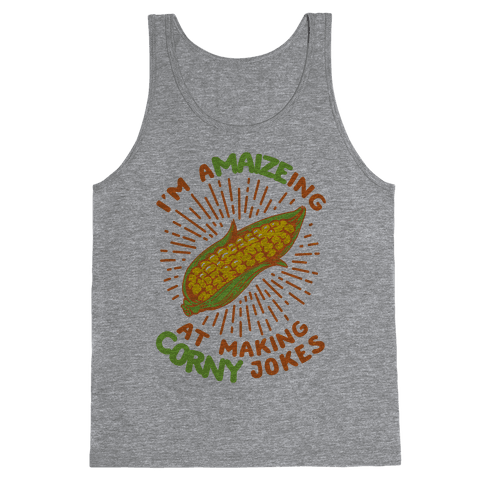 A-maize-ing Corny Jokes Tank Top