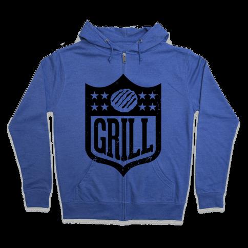Grill League Zip Hoodie