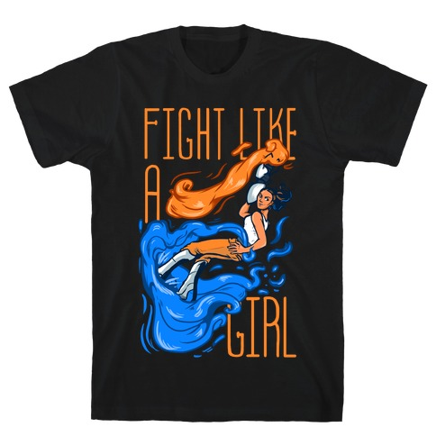 Fight Like a Girl Chell Parody T-Shirt