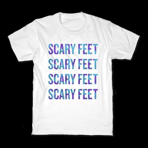 Scary Feet Scary Feet (Text) Kids T-Shirt