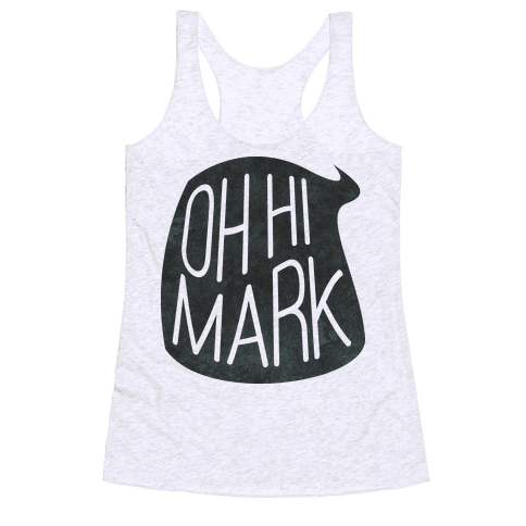 Oh Hi Mark Racerback Tank Top