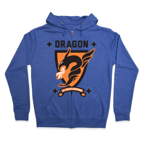 Dragon Army (Orange) Zip Hoodie