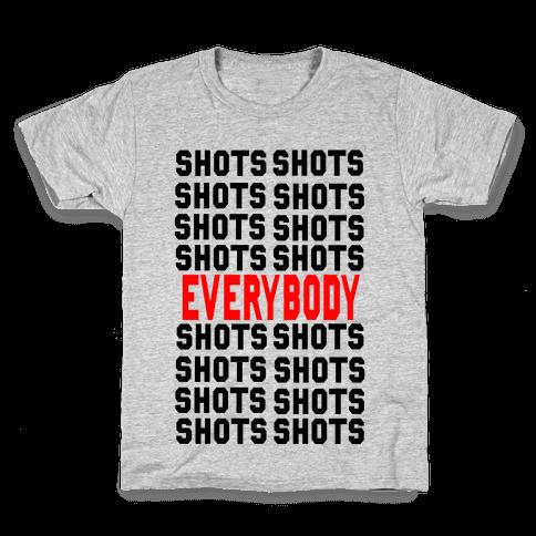 Shots shots shots...Everybody! Kids T-Shirt