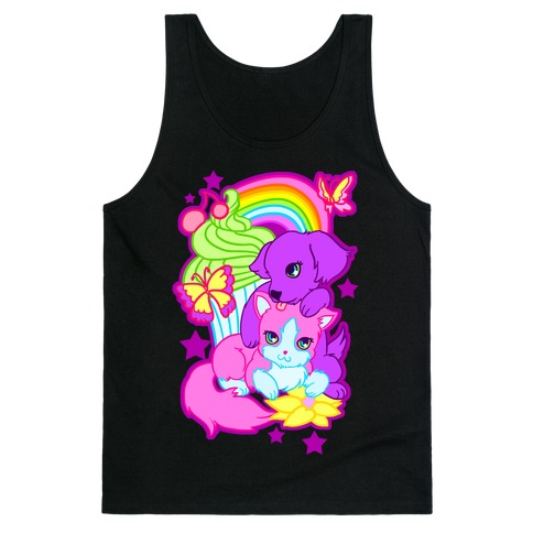 Double Trouble Rainbow Kitty & Puppy Tank Top