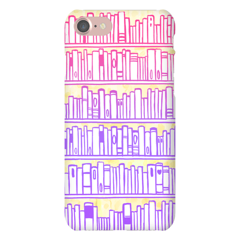Bookshelf Pattern Phone Case