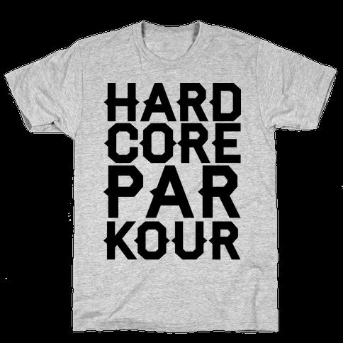 Hardcore Parkour Mens T-Shirt