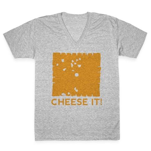 Cheese It (tank) V-Neck Tee Shirt