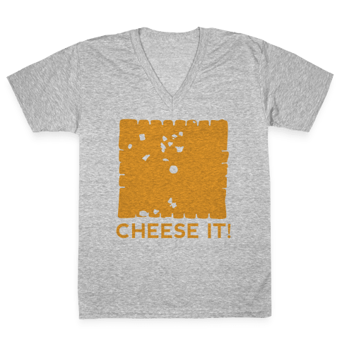 Cheese It (tank) V-Neck Tee Shirt